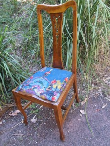 Upholstered Chair from the op shop.