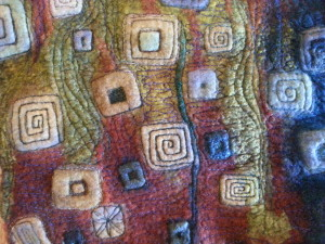 Machine Embroidered felt by Wendy Bailye