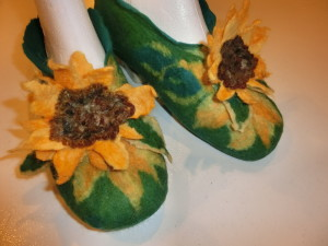 Nicolas sunflower slippers