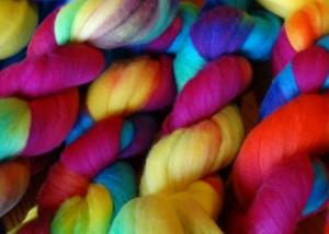 Dyed wool Rachel Meek