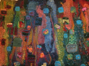 Felt machine stitched by Wendy Bailye